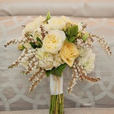 Yellow Bridal Bouquet--Trying to think silver and gold.