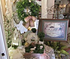 Penny's Vintage Home: Spring Sheep & Boxwood