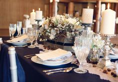 Color inspiration (except the blue should be darker and more silvers added) Mountain Ranch Victorian inspiration   Real Weddings and Parties   100 Layer Cake