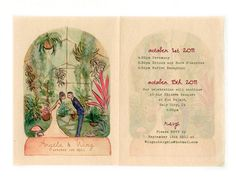 Hand-painted Storybooklet invitations archival-printed on Japanese washi paper. You imagine it, and we'll paint it!