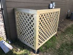 Take a look at these 10 design ideas to help hide your air conditioning unit and add instant curb appeal. Pool Equipment Enclosure, Pool Equipment Cover, Ac Unit Cover, Ac Cover, Lattice Screen, Lattice Fence, Lattice Wall, Backyard Projects, Backyard Patio