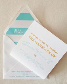 Looking for invites that communicate both that the ceremony will be classic and the party will be exciting. This I think fits that line.