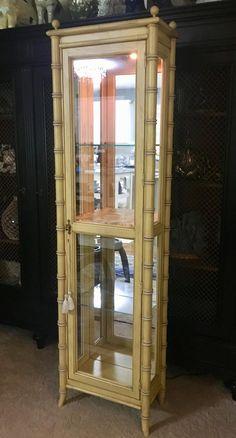 Faux bamboo cabinet/Vitrine by Lane Altavista-Local pick up