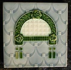 Jugendstil Fliese art nouveau tile tegel  top
