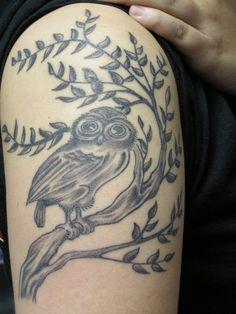 Cool Tattoos For Girls | ... Men Owl Upper Arm Cool Tattoo Design for Girls – PhotoFunBlog.com
