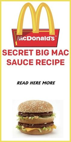 Last year, McDonald's made it's super secret Big Mac Sauce available for purchase by the bottle. Last year, McDonald's made it's super secret Big Mac Sauce available for purchase by the bottle. Mcdonald's Big Mac Sauce Recipe, Sauce Recipes, Cooking Recipes, Homemade Big Mac Sauce, Chicken Recipes, Hamburger Salad Recipe, Vegetable Protein, Sweet Pickles, Carne Picada