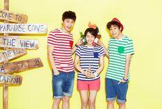 Park Seo Joon, Lee Hyun Woo & Kim So Hyun for UNIONBAY Summer 2014