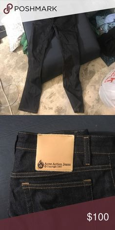 Acne Action Jeans Brand new, unworn Acne Jeans Straight Leg