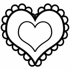 35 - good heart template for cutouts for heart animals   LDS Sunbeam ...