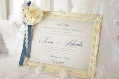 アンティーク風・彫刻フレームのウェルカムボード/クレール・WY - Claire WY - Welcome To Our Wedding, Bouquet, Space, Decor, Floor Space, Decoration, Bouquet Of Flowers, Bouquets, Decorating