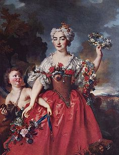 1730 Marquise de Gueydan as Flora by Nicolas de Largilliere
