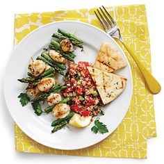This quick and easy seafood entrée takes 15 minutes to make. You can cook up Grilled Scallop Kabobs for dinner any night of the week. Grilling Recipes, Seafood Recipes, Cooking Recipes, Dinner Recipes, Seafood Dishes, Fish Recipes, Grilling Ribs, Dinner Ideas, Outdoor Grilling