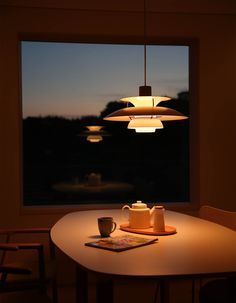 Over dining table? Interior Lighting, Room Interior, Lighting Design, Beautiful Interior Design, Beautiful Interiors, Ph Lamp, Dining Nook, Dining Table, Home Deco