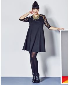 Lace Sleeve Swing Dress at Simply Be! This cutie is sold out!! Not surprised! But I want this to sport to a fabulous evening event! Again, classy chic elegance--for all sizes!!