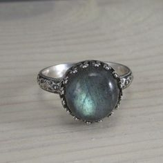 Gorgeous labradorite ring on a floral patterned by silverlyjewelry, $58.00