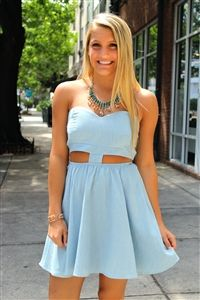 Made the Cut Dress #chambray #dress #cutouts #sweetheart #neckline #amazing #spring