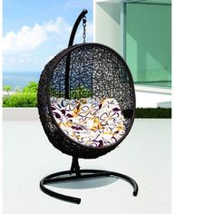 Hanging Cocoon Outdoor Chair With Stand   Dot U0026 Bo