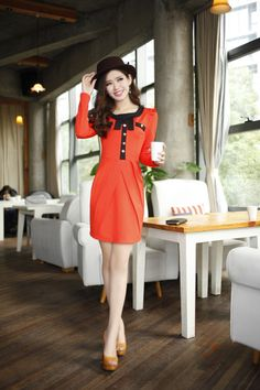 long, sleeve, midi, dress, bow, falbala, ELEGANT, final, clearance, ghl0084, yrb, sale, style, yrbfashion, fashion, asian, korean, japanese,...