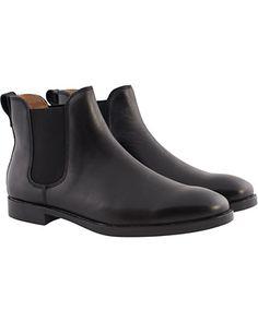 Polo Ralph Lauren Dillian Chelsea Boot Black Calf hos CareOfCarl.
