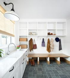 Family friendly mudroom and laundry room combo