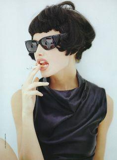 Gretha Cavazzoni by Jose Manuel Ferrater, Vogue Spain 1995