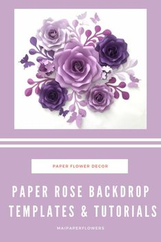 Are you looking for paper roses diy and tutorial? Try out making this paper rose backdrop! It is great for your home decoration or any events. #paperrosesdiy #paperrosetutorial#paperrosetemplate #paperrosebackdrop #paperrosediy #rosetemplate #paperrosesdiytemplate #paperrosestutorial #paperrosesvg #paperrosesprintabletemplate #rosetemplatesvg #rosetemplateprintable Easy Paper Flowers, Paper Flower Backdrop, Paper Roses Tutorial, Large Paper Flower Template, Giant Paper Flowers, Flower Center, Pink Paper, Flower Making, Flower Designs