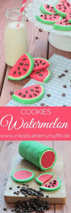 Süße Wassermelonen Kekse // Cute watermelon cookies ♥ Sweet watermelon cookies // Cute watermelon cookies ♥ {Recipe} Vegan sweet potato applesauce baby biscuitsApple and banana sheep. How cute – Pin super cute meals for kids who love your clover Watermelon Cookies, Sweet Watermelon, Watermelon Quotes, Watermelon Dessert, Watermelon Ideas, Brownie Cookies, Cake Cookies, Sugar Cookies, Sweet Cookies
