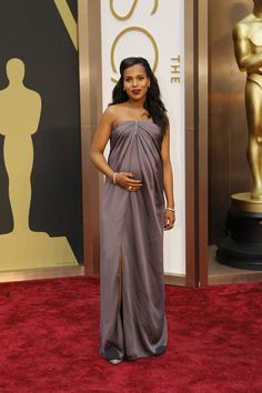 Fashion's It-girl Kerry Washington Pale Mauve Jason Wu Gown