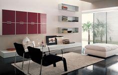 Adorable IKEA Living Room Design Ideas : Charming Cream IKEA Living Room with Black Arm Chairs and Three Rectangle Bookshelfs
