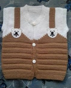 Bebek yün işleri – Knitting patterns, knitting designs, knitting for beginners. Kids Knitting Patterns, Baby Sweater Knitting Pattern, Knitting For Kids, Easy Knitting, Baby Patterns, Crochet Baby Sweaters, Knitted Baby Cardigan, Diy Crafts Knitting, Pull Bebe