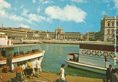 LISBOA anos 1960 - Praça do Comércio e barcos cacilheiros - PORTUGAL OLD LISBON - LISBOA ANTIGA - LISBONNE