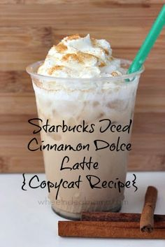 Starbucks Iced Cinnamon Dolce Latte {Copycat Recipe}