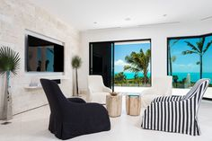 D'Amico Design Agency created this spectacular interior design for the luxurious Triton Villa in the Turks & Caicos.
