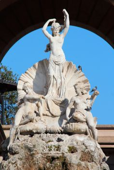 This is a statue of the goddess Venus found as a part of the Cascada within Parc de la Ciutadella in Barcelona, Spain. She is depicted standing in an open clam. Again, this display was created to resemble the Trevi Fountain in Rome, Italy.