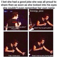 Hahaha I love Harry!