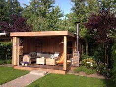 tuinhuis met lounge overkapping in leerdam afbeelding 1