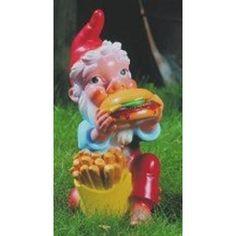 Zwerg mit Hamburger: Amazon.de: Garten, Gartenzwerg, Zwerg, Gnom, Gartenfigur, Gartendeko, Märchen, Sieben Zwerge, dwarf, garden gnome, Dekoration,