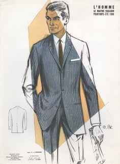 Typical suit from the mid 1960s.