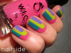 Todays Daily Nail Art is this layered design by Nailside.