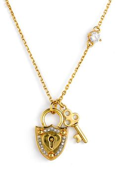 Juicy Couture Pave Shield & Key Necklace $49.90