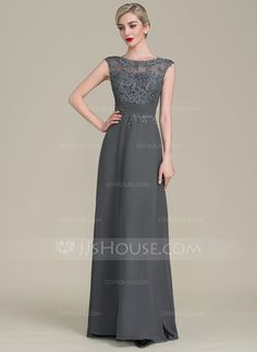 A-Line/Princess Scoop Neck Floor-Length Ruffle Zipper Up Cap Straps Sleeveless No Other Colors General Plus Chiffon Lace Height:5.7ft Bust:33in Waist:24in Hips:34in US 2 / UK 6 / EU 32 Mother of the Bride Dress