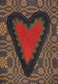 Primitive Wool Heart