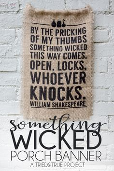 Welcome all your Halloween guests with this Something Wicked Porch Banner! Includes free Silhouette file for download.