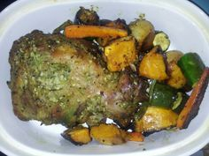 My husband made roasted leg of lamb and veg for sunday lunch