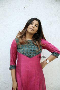 Simple Kurta Designs, Silk Kurti Designs, Salwar Neck Designs, Kurta Neck Design, Kurta Designs Women, Kurti Designs Party Wear, Chudidhar Designs, Churidhar Neck Designs, Neck Designs For Suits