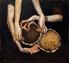 Denis Sarazhin ~ Sunflowers, 100x110cm