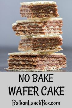 Layered tort wafers connected with a smooth filling made out of chocolate butter and walnut melted in hot milk. Chocolate Wafer Cookies, Chocolate Wafers, Chocolate Butter, Chocolate Filling, Best Dessert Recipes, No Bake Desserts, Easy Desserts, Cake Recipes, Amazing Recipes