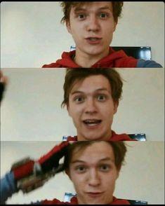 Tom Holland as Peter Parker aka Spider Man Stark Tower, Captain Marvel, Captain America, Baby Toms, Tom Holland Peter Parker, Tommy Boy, Men's Toms, Spideypool, Steve Rogers