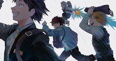 My Hero Academia // BNHA // Hanta Sero // Cellophane // Eijiro Kirishima // Red Riot // Katsuki Bakugo // Kacchan // Denki Kaminari // Chargebolt Boku No Academia, My Hero Academia 2, Buko No Hero Academia, Hero Academia Characters, Anime Characters, Fairy Tail, Haikyuu, Cute Anime Character, Boku No Hero Academy