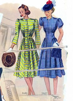 Two wonderful spring/summer dresses from 1939.